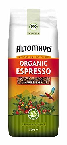 Organic Espresso ganze Bohnen 500 g - ALTOMAYO