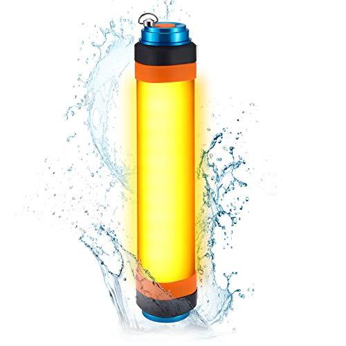 LED Camping Laterne, PELLOR Campinglampe mit 6 Lichtmodi, wiederaufladbare USB-Notlichter, IP68 Wasserdichte Tragbare Zeltlampe Taschenlampe für Outdoor-Reise, Überlebenskits, Wandern, Angeln