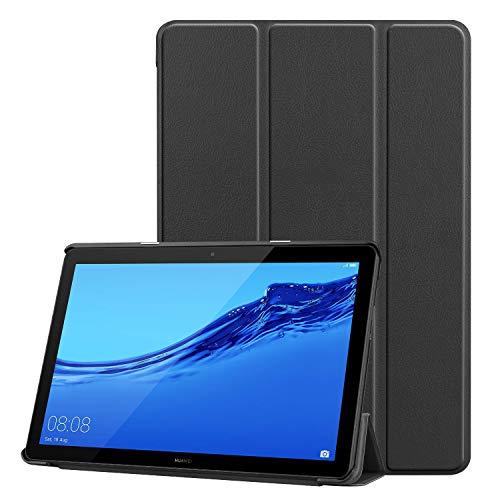 TopACE Custodia Cover per Huawei MediaPad T5 10, Ultra Sottile Lightweight Smart Case con Supporto Funzione di Leggio per MediaPad T5 10 (Nero)