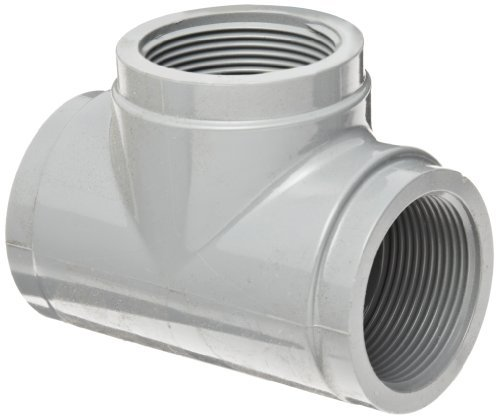 GF Piping Systems CPVC Pipe Fitting, Tee, Schedule 80, Gray, 3/4 NPT Female by GF Piping Systems