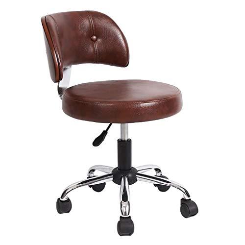 Lwjjby Vintage Design stoel, bureaustoel, houten kunstlederen stoel hedendaagse taak bureaustoel