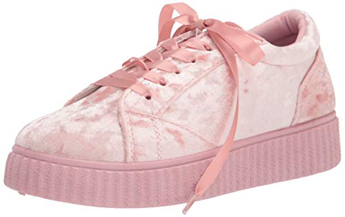 Twisted Women's Olivia Velvet Platform Creeper Fashion Sneaker - OLIVIA02 Mauve, Size 7