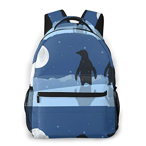 Penguin Casual Daily Backpack Hiking Camping Traveling Outdoor Activities Work Office School Wild Sports Unisex
