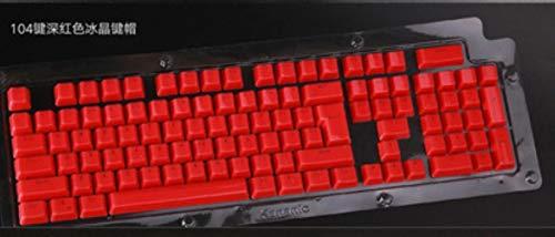 104 con retroiluminación Teclas de cristal rockeros / tecla clave retroiluminada rusa llave universal (sólo) espárragos cereza MX teclado mecánico,rojo