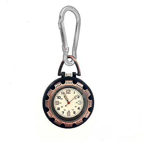 Reloj de Bolsillo Enfermera montañista Senderismo Reloj al Aire Libre Reloj Senderismo Enfermera Cadena Reloj Colgante Reloj de Bolsillo-marrón-Negro