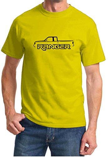 Ford Ranger Pickup Truck Classic Outline - Camiseta con diseño clásico -...
