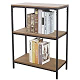 Three Shelf Bookcase Bookshelf 3 Tier Storage Rack Shelf for Office, Bathroom, Living Room(37' H)