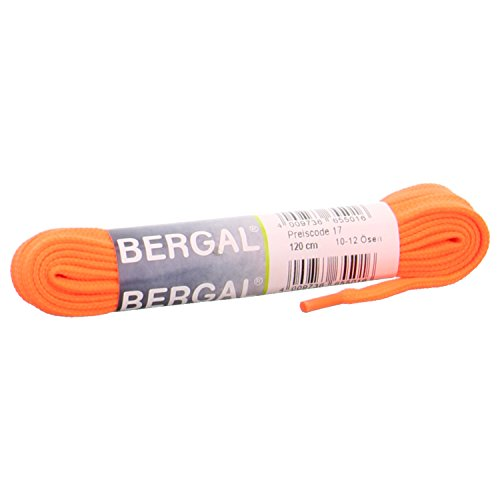 Bergal Sneaker Laces Schnürsenkel 10 mm breit verschiede Farben (120 cm, Neon Orange 080)