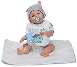 Size and Weight: Approx 20 inches (50cm) from head to toe, weights 5lbs approximately. Material: The baby is made of silicone & vinyl. You can put him into water. Hair: This baby comes with hand rooted mohair. Eyes: High-grade Tai Wai acrylic eyes. T...