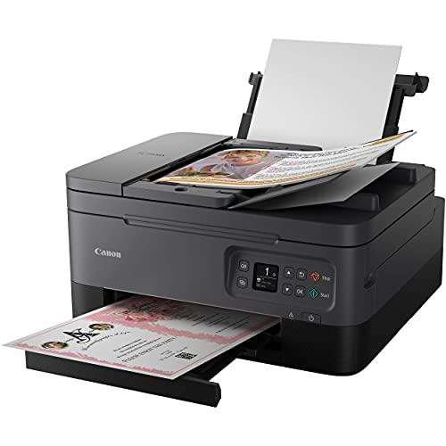 """Canon PIXMA TR 7000 Series Impresora de inyección de tinta inalámbrica todo en uno Bluetooth - Negro - Escaneo de copia de impresión - 13,0 ipm, 4800 x 1200 ppp, OLED de 1,44"""", Impresión automática a 2 caras, ADF de 35 hojas"""