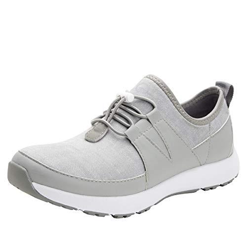 Alegria TRAQ Cynch Womens Smart Walking Shoe Dove 10.5-11 M US