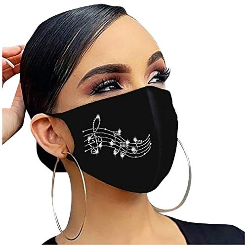 1Pc, Rhinestone Cloth Cotton Face_Mask Reusable for Women, Diamond Drill_Masks Washable for Nose and Mouth Protection, Anti-Dust for Adults, 1201 Style_030
