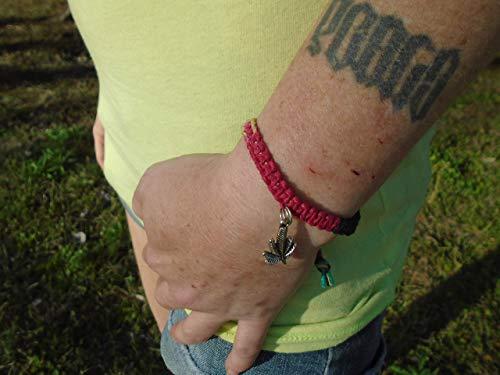 Beach Hemp Jewelry Pot Leaf Hemp Bracelet Anklet Rasta Handmade In USA Adjustable