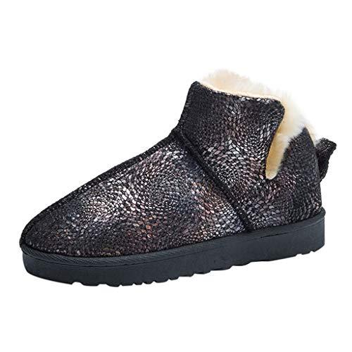 Posional 2019 Zapatos Invierno Mujer Botas De Nieve Casual Calzado Piel Forradas...