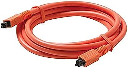 6' FT Toslink to Toslink Digital Optical Cable S/PDIF Interface Orange Fiber Optical Digital Audio Cable Male to Male Toslink Dolby Audio Connection Premium Digital Output / Input Hook-Up Jacks