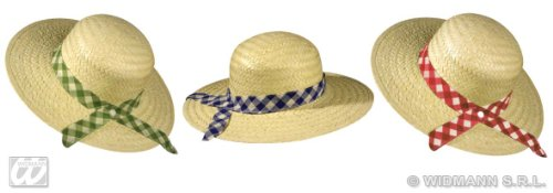 Widmann STRAW FARMERS DAUGHTER HAT WITH RIBBON 3 COLORS