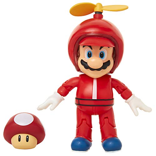 World of Nintendo 4' Propeller Mario Action Figure with Coin Action Figure