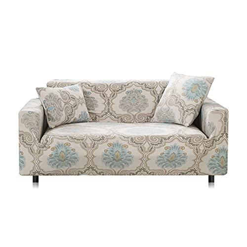 WXQY Funda de sofá elástica con Todo Incluido, Funda de sofá en Forma de L Funda de sillón para Sala de Estar, Funda Protectora de Muebles A27 de 4 plazas