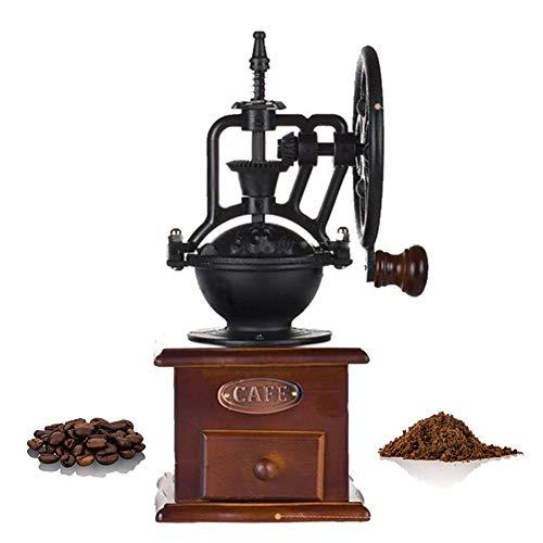Bureau Moulin à café manuel Moulin à café rétro Poignée de main Serrage à la main Grains de café Grinder Portable Machine à café manuelle Grinder Graines de noix