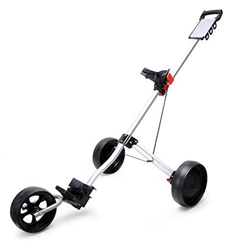 zxz Golfwagen, Faltbarer Karrenwagen mit 3 Rädern, Rutschfester Griff aus Aluminiumlegierung, leicht zu ändernde...
