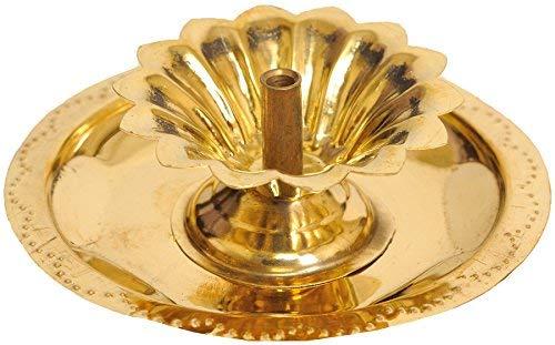 Sataanreaper Geschenke Puja Blumen Wick Lampe - Messing # Sr-153