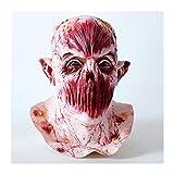 YYH Boquilla Máscara Sangriento Horror Halloween Látex Arnés Zombie Devil Mask
