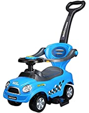 عربة الأطفال JINSUO عربة أطفال دفع سكوتر موسيقية طفل مشايرة انزلاق سيارة أربع عجلات لعبة سيارة ركوب