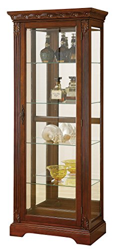 ACME Addy Curio Cabinet - - Cherry