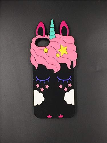 Cute Cartoon 3D Rainbow Unicorn Horse Silicone Soft Phone Cases For Apple iPhone X 4 4S 5 5S 5C SE 6 6S Plus 7 8 Plus Back Cover-in Fitted Cases from Cellphones & Telecommunications,3,For iPhone 6 6S