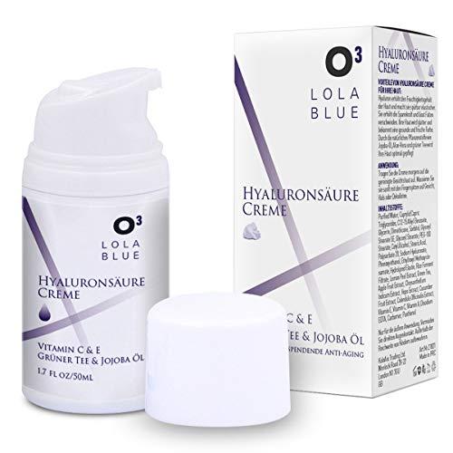 O³ Hyaluronsäure Creme hochdosiert/Faltencreme Frauen und Männer/Tagescreme mit Hyaluron, Vitamin C & E/Feuchtigkeitscreme – Anti Aging face cream/Moisturizer women men/Gesichtspflege
