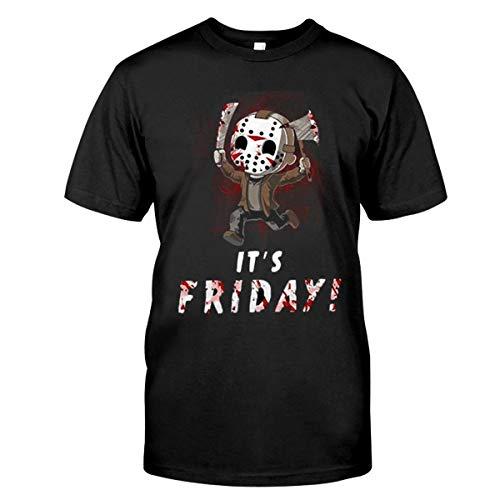 Jason Voorhees Chibi its Friday Halloween t Shirt Black