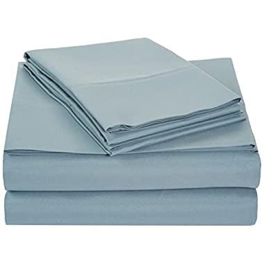 AmazonBasics Microfiber Sheet Set - King, Spa Blue