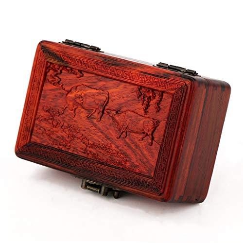 YCDJCS Watch Box mechanische Uhr Sammelbox Retro Massivholz Schmuckschatulle for Manschettenknopf Ringe Ketten als Geschenk Kleideraufbewahrung (Color : B, Size : 11.5 * 7.4 * 4.8 cm)