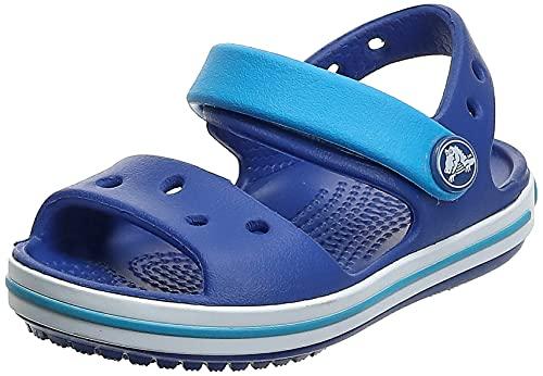 Crocs Crocband Sandal Kids Unisex - Bambini Scarpe spuntate, Sandali con Cinturino alla Caviglia, Blu (Cerulean Blue/Ocean), 19/20 EU