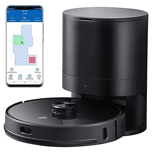 Proscenic M7 PRO - Robot Aspirapolvere con Tecnologia Navigazione Laser LDS, Robotino Lavapavimenti con APP & Alexa, per Pulizi