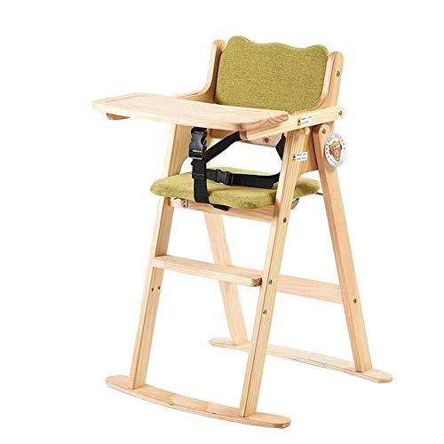 QQXX hoge stoelen voor baby's, eettafelstoelen, draagbaar, verstelbaar, voor thuis Zhangqiang (kleur: groen, maat: korte voeten) ZQANG4457r-2 Zqang4457r-2