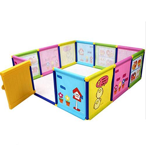 AISHANG Baby Playpen Kids Clôture de Jeu Baby Anti-Fall Fence Clôture de sécurité Infant Indoor Toddler Safety Couverture de bébé Forte et Durable