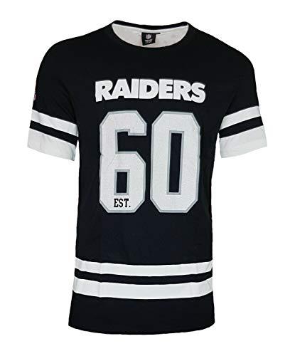 NFL Oakland Raiders EST. 60 Playera, Hombre, MOR4232, Negro, Extra-Small