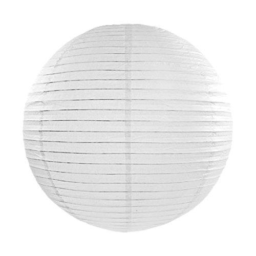 Simplydeko LAMPION Papierlaterne | Deko für Party, Garten und Hochzeit | Papierlampions (Weiß, 45 cm)