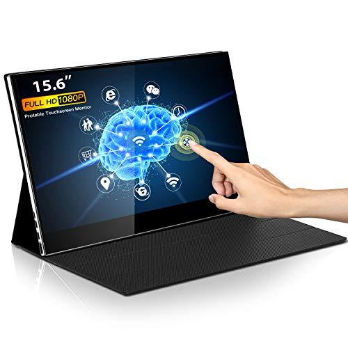 Eyoyo 15,6-inch touchscreen-monitor 1920 x 1080 IPS draagbare USB C-monitor Tweede monitor Mini PC-scherm met USB-C en HDMI-ingang Compatibel met Smartphone Xbox One PS4-schakelaar Raspberry Pi