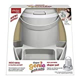 Diaper Genie Quick Caddy, Mini Portable Diaper Pail with Improved Lid Closure, Includes 270 Count Refill Cartridge