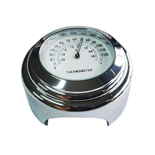 """TOPSALE Wasserdichtes 7/8"""" Motorrad Lenker Fahrradhalterung Temperatur Thermometer (Weiss)"""