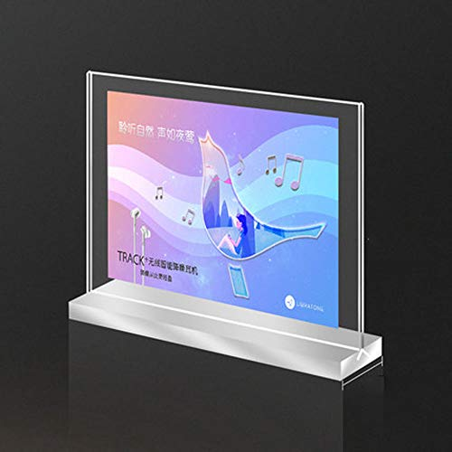 A4 soportes de acrílico para carteles,Estante de exhibición de carteles de menú,panel ultra claro de alta definición,panel...