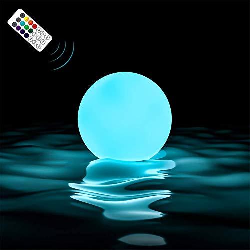 Loftek - Lámpara flotante para piscina IP67 impermeable con 16 colores que cambian la iluminación de ambiente para casa, jarrón, spa, acuario, bañera, piscina, jardín, fiesta, 1 Pcs