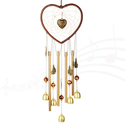 """Wind chime for Outdoor(24"""") Windchimes Dream catcher Hanging Indoor Creative Wind Chimes Ornament Decor Chrome Hearts For girlfriend gift Home Garden Yard,Creating a sense of romance to your place"""