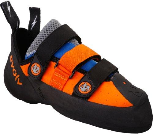 evolv Men's Shaman Climbing Shoe,Orange/Blue,12.5 M US