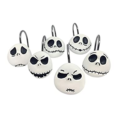 Disney Nightmare Before Christmas Jack Skellington 12-Piece Shower Curtain Hooks