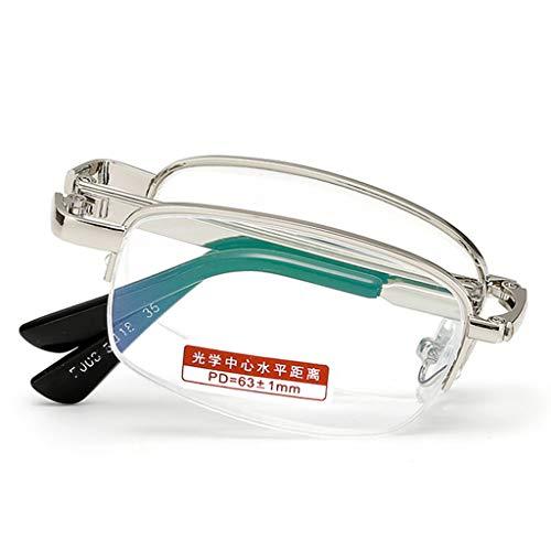 VOCD Mode Klapp Lesebrille Anti-Müdigkeit Metall Vollformat Presbyopie Brille Glas Scharnier Federleser Männlich Komfortable Nasenpolster Mit Starken Scharnieren
