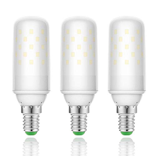 YSSMAO E14 Lámpara de Vela de la Bombilla de luz de maíz LED 200 / 240V 9W Incandescent Equivalent Edison ANTERY 1000 LUMENS 3PACK,Cold White 6000k