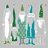 Servietten Moderne Santas Nikolaus Weihnachts-Männer xmas Advent Tisch-Deko DIY Geschenk Style grün, 33x33cm, 20 St.Pack, 3-lagig, 100% Tissue/FSC, wiederverschließbare Packung